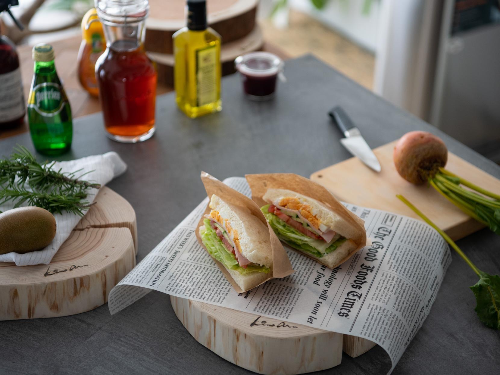 サンドイッチの盛り付け方